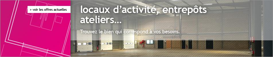 locaux d'activité, entrepots, ateliers